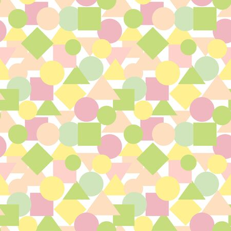 Summer geometric pattern. Vector seamless