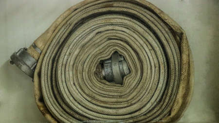Spiral fire hose in place dirty