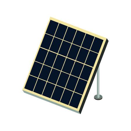 Isometric solar panel icon.Vector illustration isolated on white background.