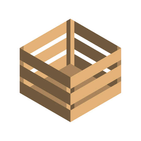 Isometric parcel icon.Packing box vector illustration isolated on white background.