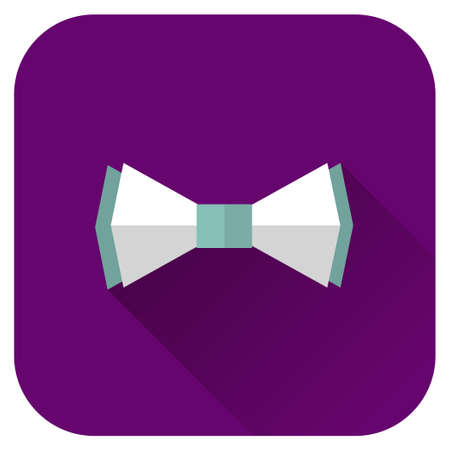 Vector Illustration Of Bow Tie Icon in flat style
