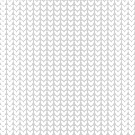 reverse: Seamless knitted background. Vector illustration. Knitted realistic baby boy seamless pattern of white color. Reverse side. Illustration