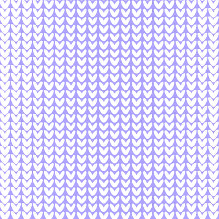 Seamless knitted background. Vector illustration. Knitted realistic baby boy seamless pattern of white color. Reverse side. Illustration