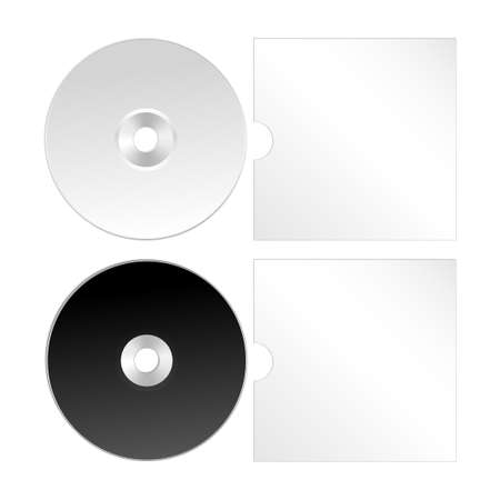 blueray: Cd, dvd isolated vector icon. Compact disc realistic set Illustration
