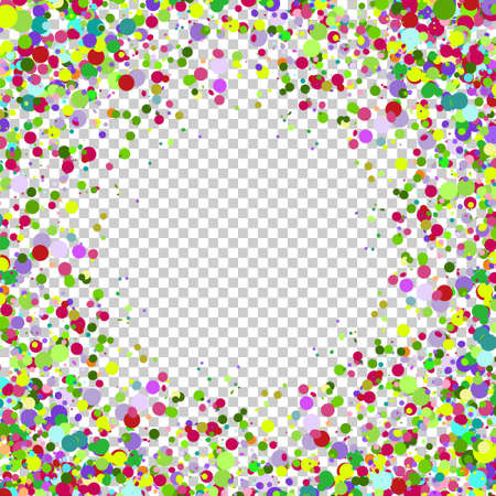 translucent: Abstract background with falling multicolored confetti. Empty space for text. Background for holiday cards, greetings.