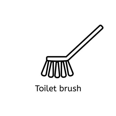 Toilet Brush Simple Line Icon. Washing Brush Thin Linear Signs ...
