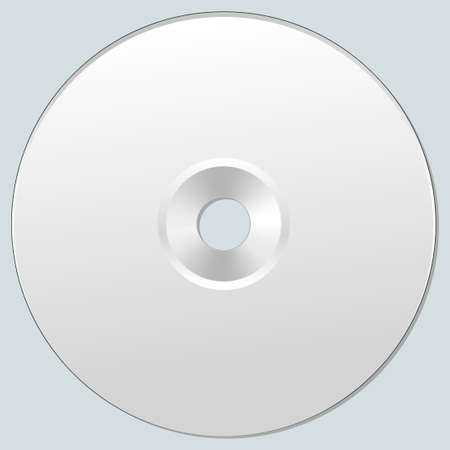 illustration of isolated blank compact disc CD or DVD. Realistic style.