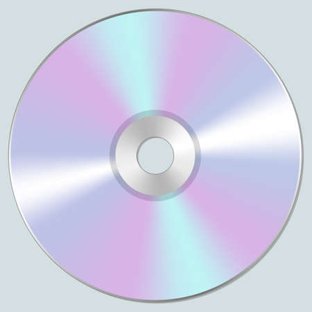 Vector illustration of isolated blank compact disc CD or DVD. Realistic style. Illustration