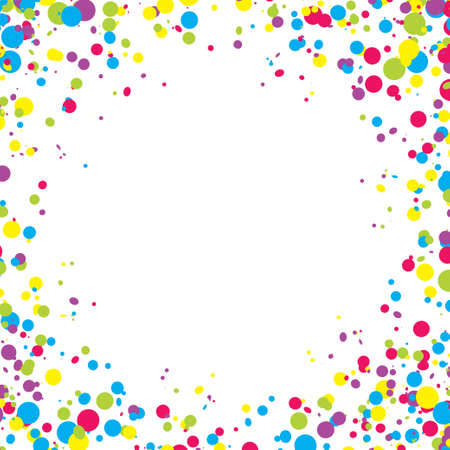 Abstract background with falling multicolored confetti. Empty space for text. Background for holiday cards, greetings.