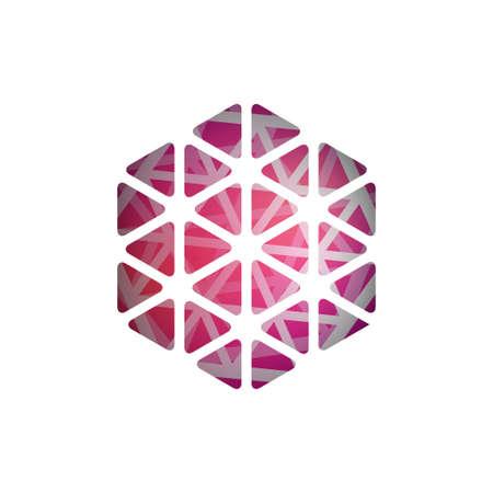 Abstract polygonal shape. Abstract Modern Geometrical Design Template. Light triangular banner. Stock Photo