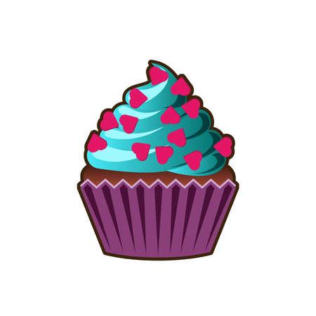chocolate swirl: Cupcakes cartoon icon.