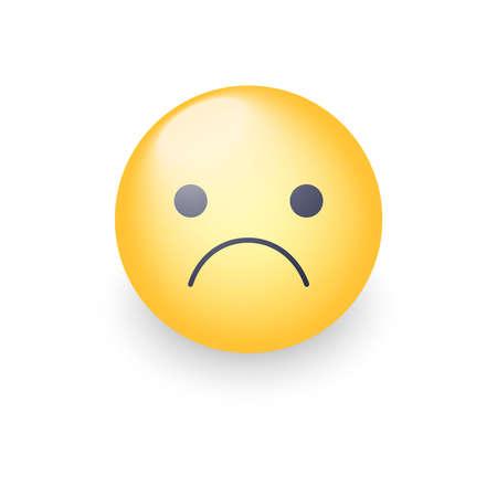 Emoji de dessin animé vecteur inquiet Banque d'images - 87214048