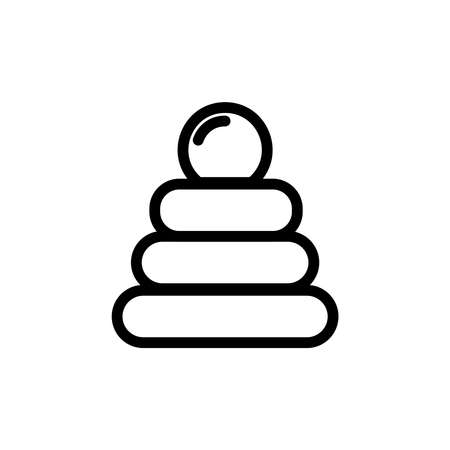 Baby Pyramid Toy Thin Line Icon Outline Symbol Kid Game For Stock - Game outline