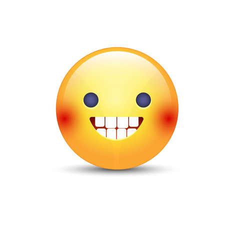 Smiling vector icon