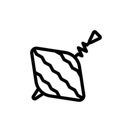 Baby whirligig thin line icon Illustration