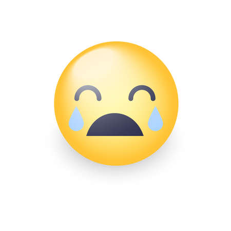 Loudly crying emoji Illustration