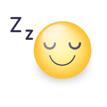 Sleeping vector Face icon