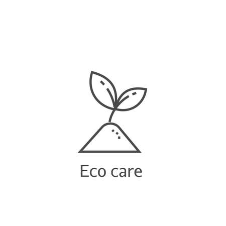 beginnings: Sprout eco care thin line icon