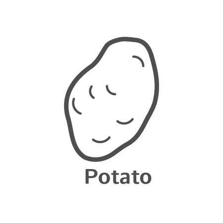 Potato thin line vector icon