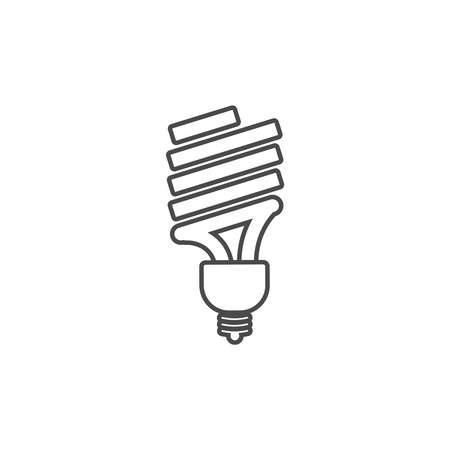 Eco powersave lamp line icon. Ecology bulb saves electricity. Saving electricity concept.