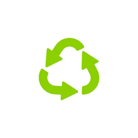Recycling ecology thin line icon. Protection of the environment and nature linear sign. Ecological symbol for infographic, website or app. Stock Photo