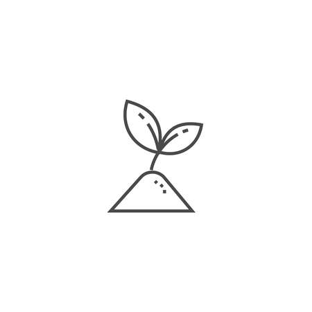 beginnings: Sprout eco care thin line icon. Ecology and environmental protection concept. Leafs eco frendly symbol.