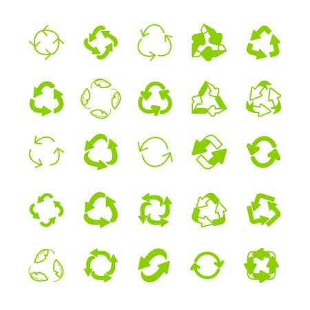 リサイクル エコロジー細い線アイコンを設定。環境および性質の線形符号の保護。インフォ グラフィック、ウェブサイトまたはアプリの生態学的シ 写真素材