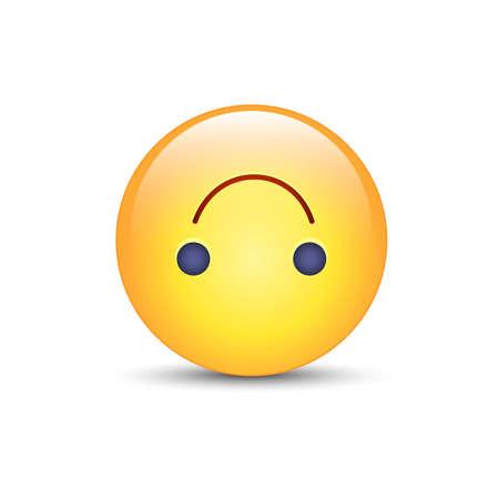 Upside-Down happy emoticon. Cartoon cute vector emoji. Social media upside down smiley