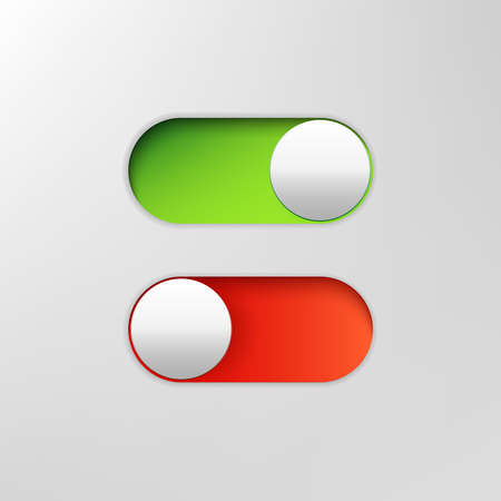 Phone switch icon. On off toggle for design applications. Phone vector slider bar. Illustration