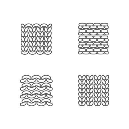 編み物アイコンのサンプルを設定します。顔と反対側。ニット糸のサンプルから。