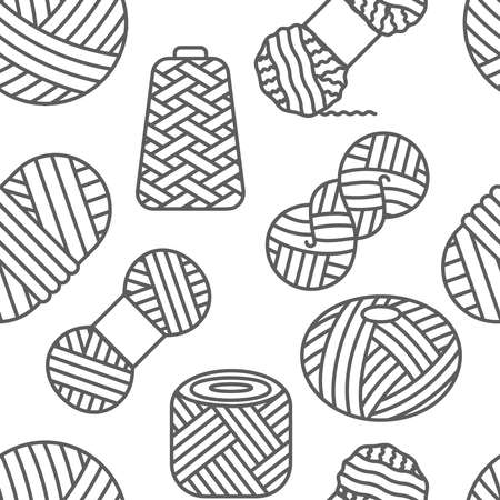 Knitted seamless pattern of white color. Knitting, crochet, hand made line repeat design. Knit wool yarn background. Winter ornament.