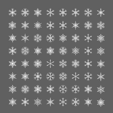 Snowflakes icon. Line snow flake ice pictogram. Illusztráció