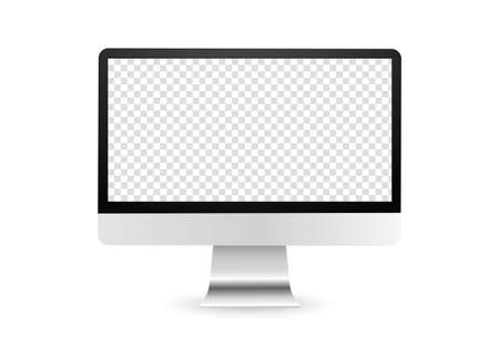 Computer display with blank screen. PC monitor