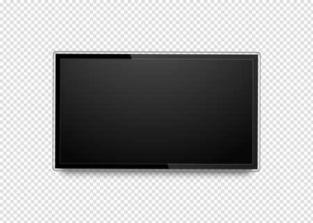 Realistic 4k ultra hd monitor. Blank tv screen.
