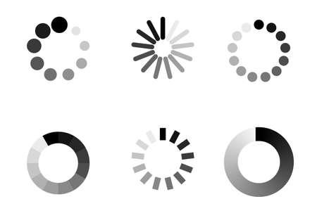 Progress bar loading icon. Load download process