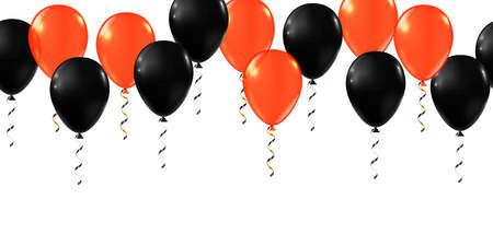 Happy Halloween balloons. Party decor ballon set Illusztráció