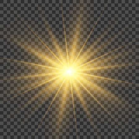 Light bright flash effect. Bright glow illustration for perfect effect with sparkles. Star burst. sunlight.