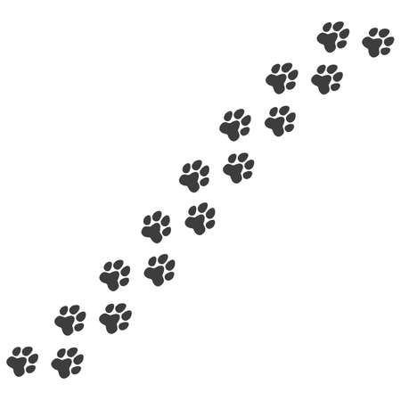 Cat or dog paw. Pet foot trail print Ilustrace