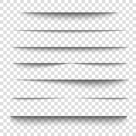 Paper sheet shadow effect. 3D line edge shape.