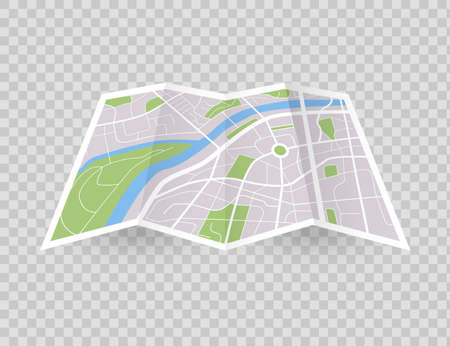City map. Navigation in town concept. Vector downtown gps navigation plan. Street location