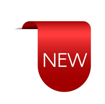 New sticker icon. Red discount label. Vector special price new badge Illusztráció