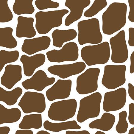 Giraffe seamless pattern. Wild animal print. Vector cow skin illusration Illusztráció