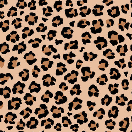 Leopard seamless pattern. Wild animal print. Vector african camouflage skin illusration