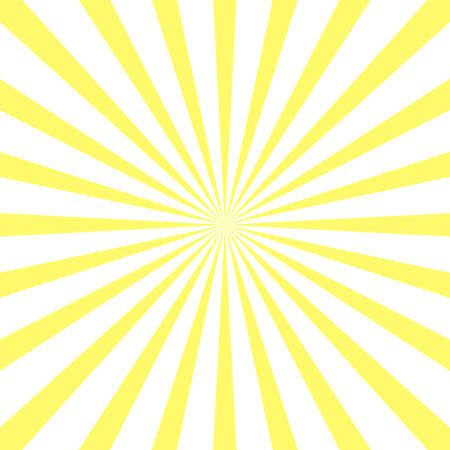 Yellow sunburst rays retro background. Orange vector vintage radial sunny beams. Illusztráció