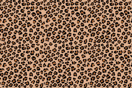 Leopard seamless pattern. Wild animal print. Vector african camouflage skin illusration