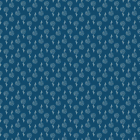 Little blue flower pattern. Ditsy small cute print. Seamless floral vector motif for textile 矢量图像