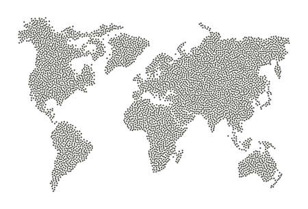 Dotted world map. Abstract infographic isolated vector worldmap