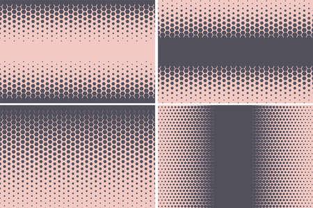 Hexagonal pattern. Geometric hexagon halftone abstract background. Vector 向量圖像