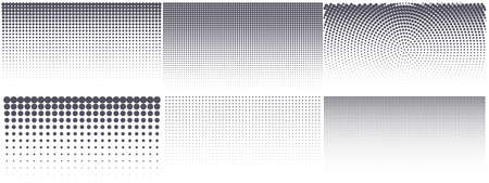 Modern halftone background. Vintage dotted texture for anime or manga design. Abstract comic popart grunge background. Vector illustration.