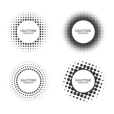 Circle halftone shape. Round dot grunge effect for a medical or cosmetic Icon or poster